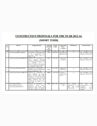 construction business proposal in doc