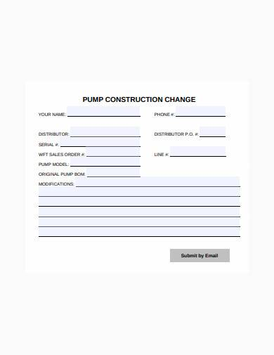 construction change form in pdf