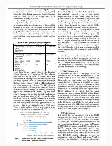 construction cost analysis in pdf