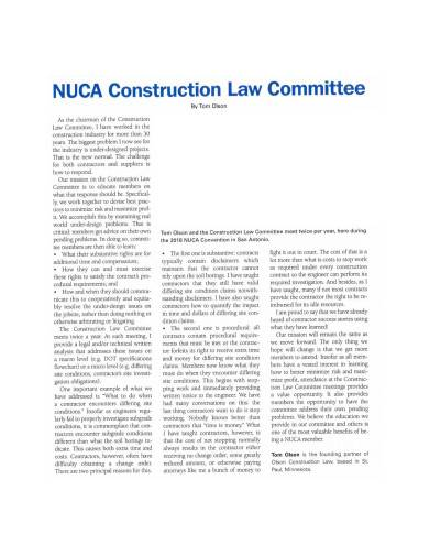 construction law committee report