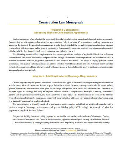 construction law monograph