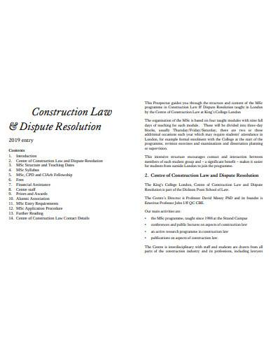 construction law and dispute resolution
