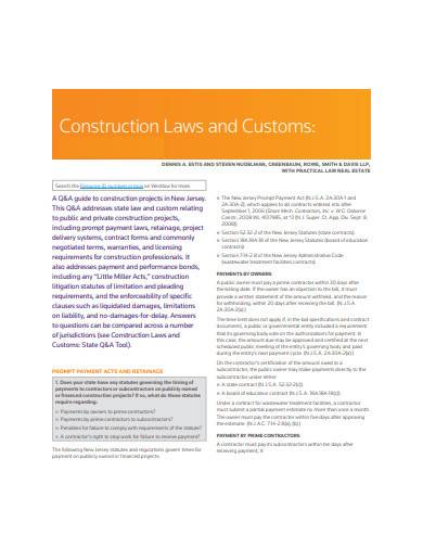 construction laws and customs