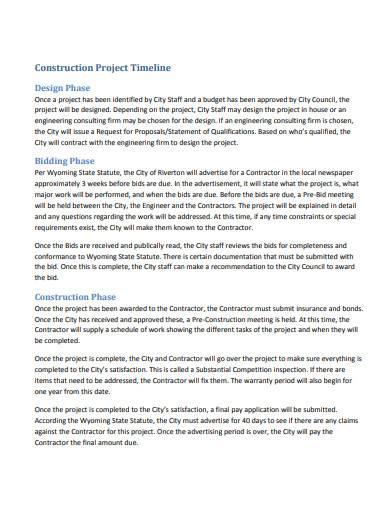 construction project timeline
