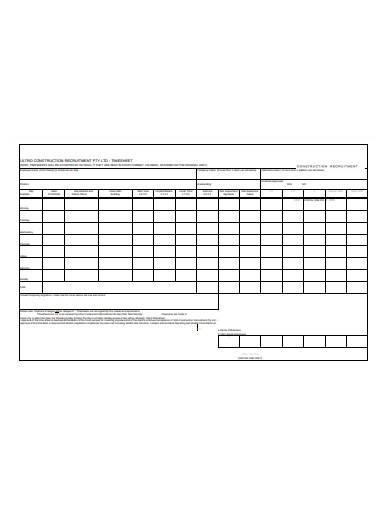 construction recruitment timesheet