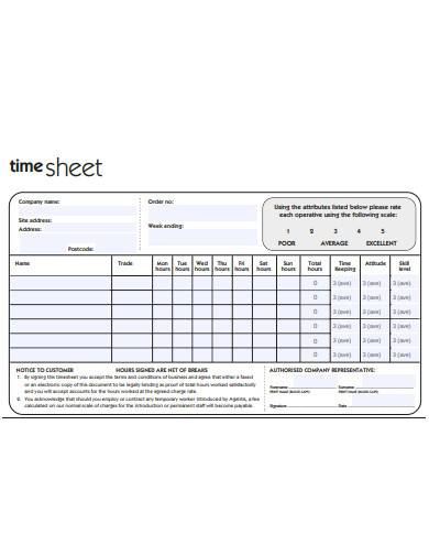 construction timesheet