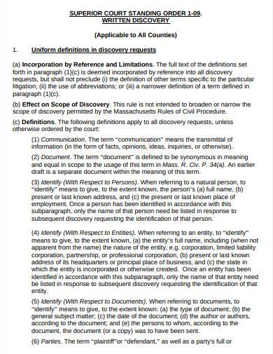 court standing order example