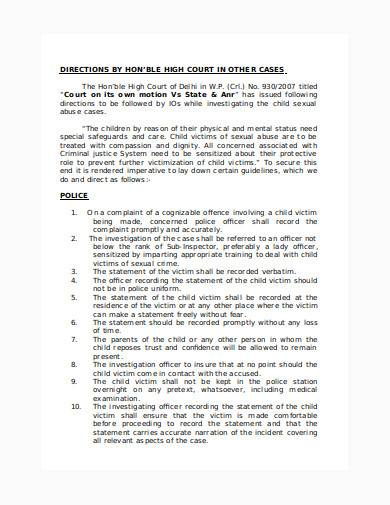 court standing order in doc