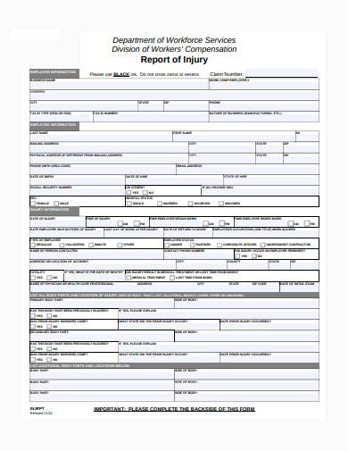employee report of injury form in pdf