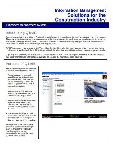 engineering and construction timesheet management