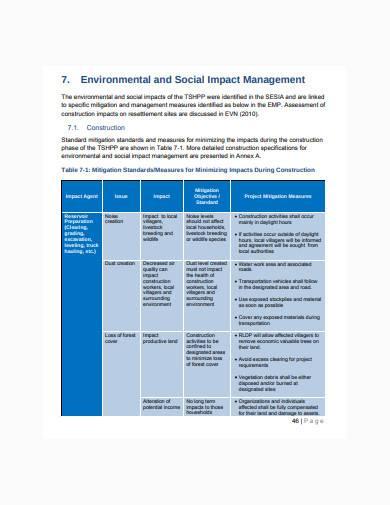 environmental management plan example