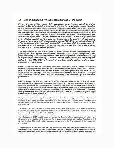 environmental management plan in doc