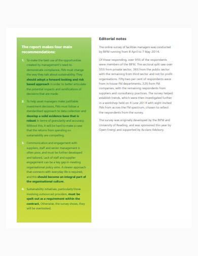 facilities management report in pdf