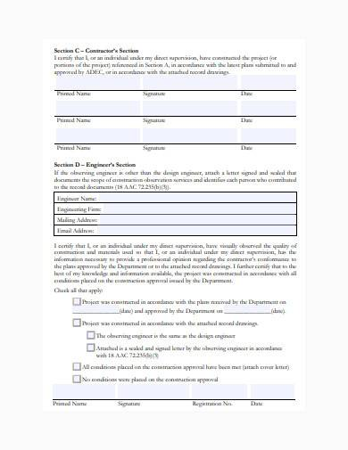 formal construction form template