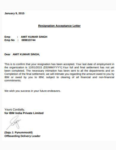 formal settlement acceptance letter sample