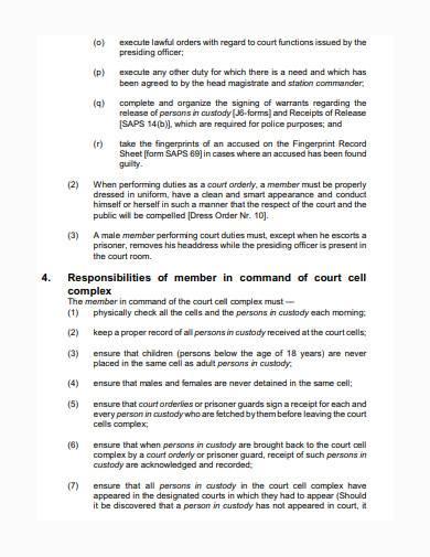 general court standing order sample