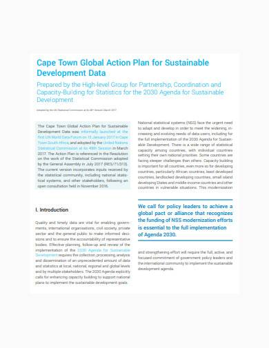 global construction action plan template