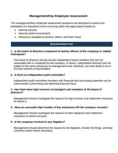 management employee assessment