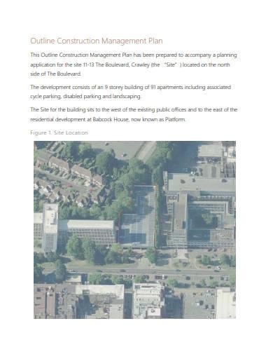 outline construction management plan