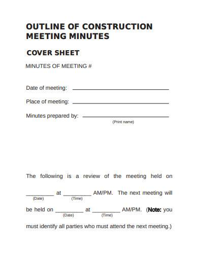 outline of construction meeting minutes