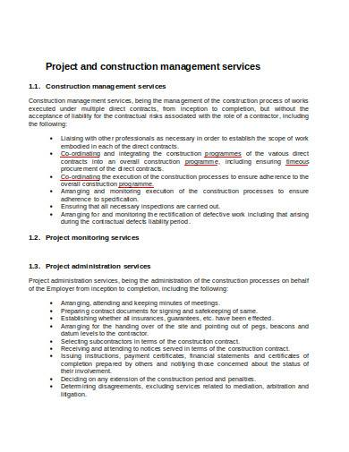 project and construction management services