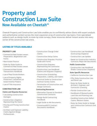 property and construction law suite