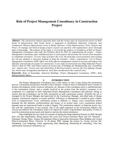 role of project management consultancy in construction projec