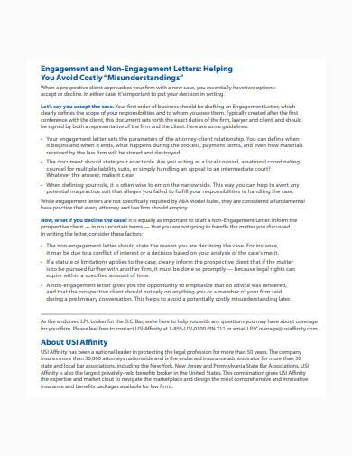 Free 9 Non Engagement Letter Samples In Pdf Ms Word