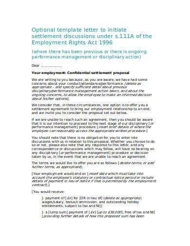 settlement offer letter in doc