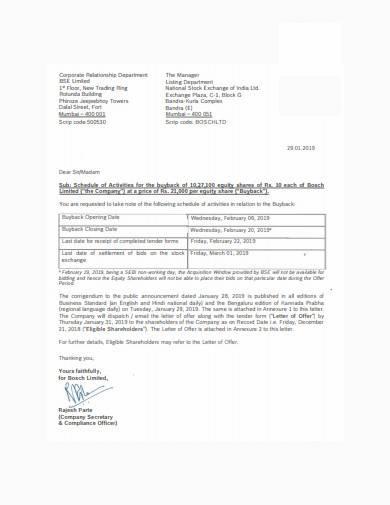settlement rejection letter example