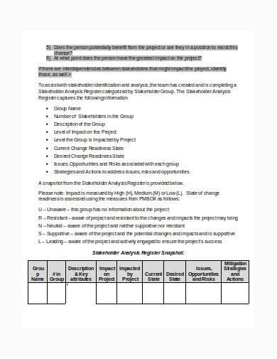 stakeholder management plan in doc