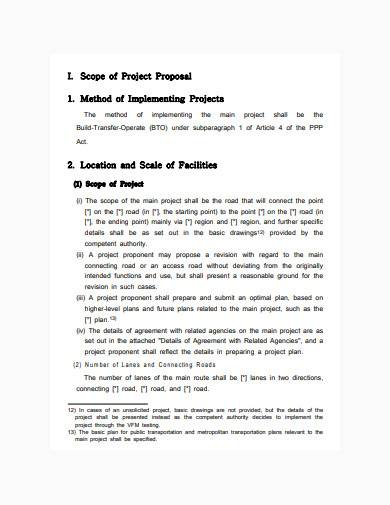 standard construction business proposal template