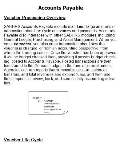 accounts payable template