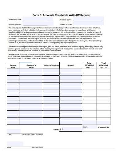 accounts receivable request template