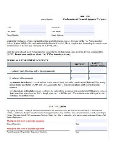 accounts worksheet template