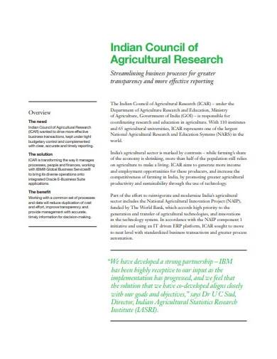 agricultural research overview template