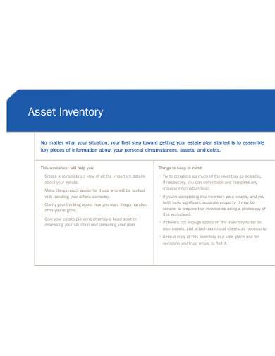 asset inventory worksheet template