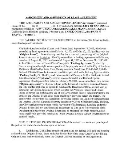 assignment assumption of liability agreement