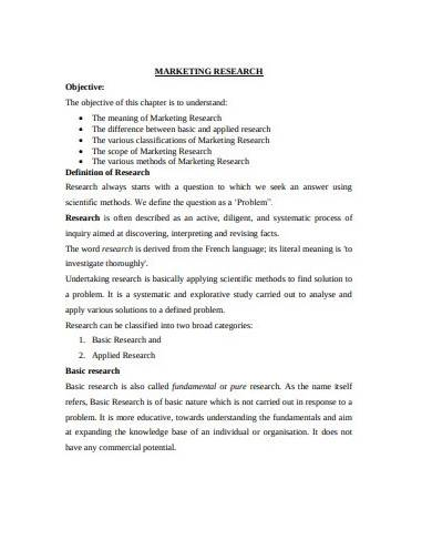 business marketing research plan template