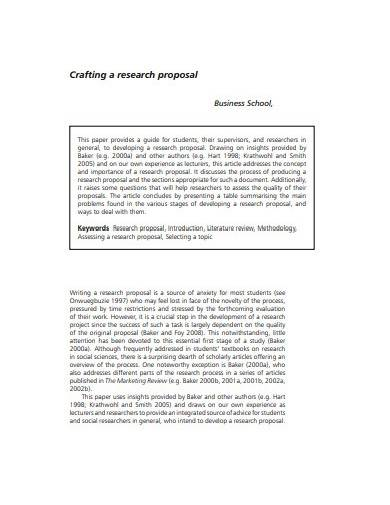 business research proposal format