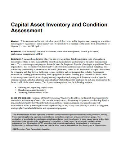 capital asset inventory template