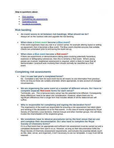 charity risk assessment management