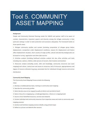 community asset mapping tool