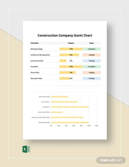 construction company gantt chart template