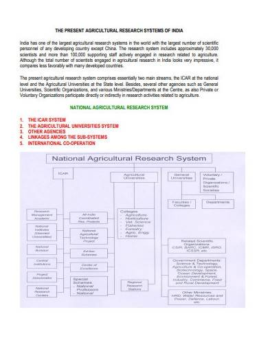format of agricultural research template