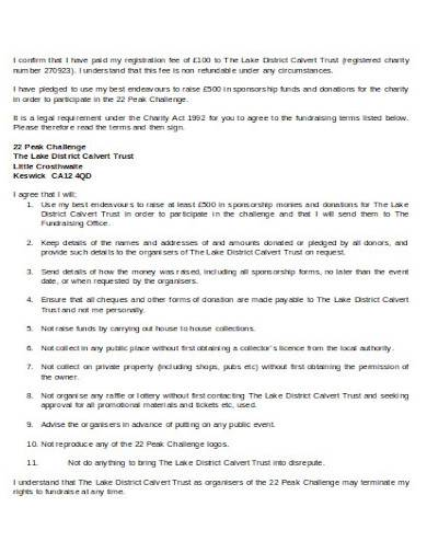 format of charity sponsorship agreement
