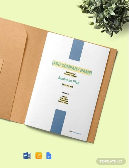 free sample construction business plan template