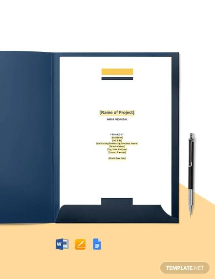 free sample construction proposal template