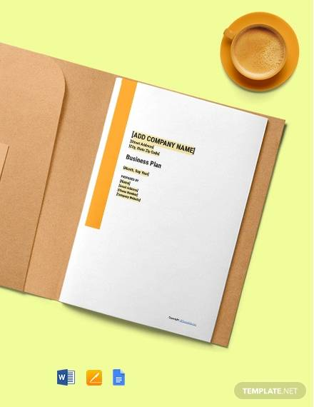 free simple construction business plan template