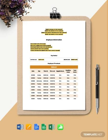 general construction timesheet template